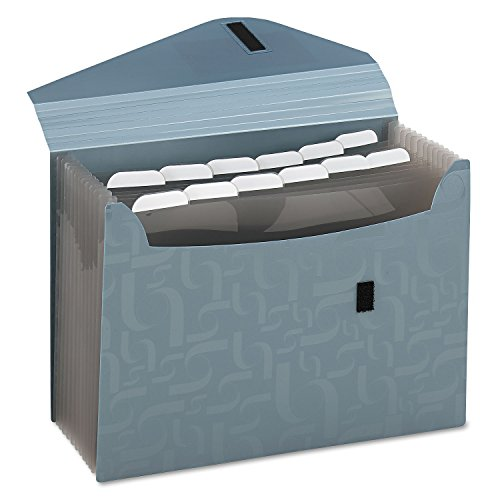 Pendaflex Essentials 01163 Expanding Poly Files, 13 Pockets, Poly, 1/6 Tab, Letter, Blue