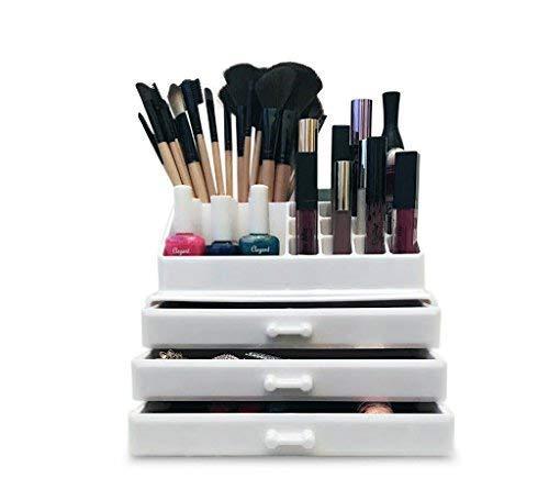 Maquillaje acrílico blanco/cosméticos/ joyas/organizador