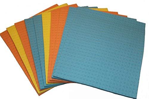 Küchen-Schwammtücher, Reinigungstuch, Putztuch, Schwammtuch ca 21 x 18 cm, waschbar bei 95 Grad (50)