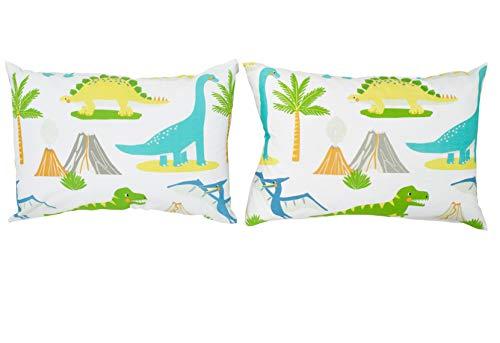 Bloomsbury Mill - Juego de cama para niño - Juego de 2 fundas de almohada adicionales 50cm x 75cm - El Mundo de los dinosaurios