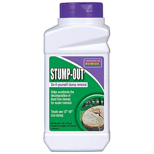 Bonide (BND272) - Ready to Use Stump-Out, Easy Chemical Stump Remover for Old Tree Stumps (1 lb.)