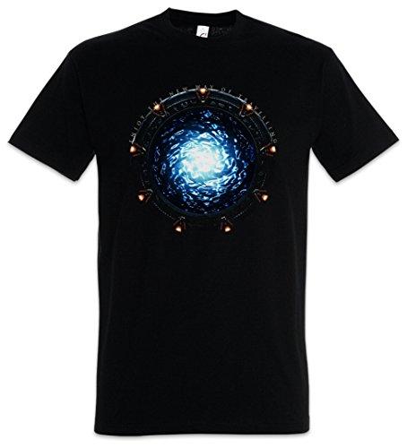 Urban Backwoods Star Portal Herren T-Shirt Schwarz Größe M