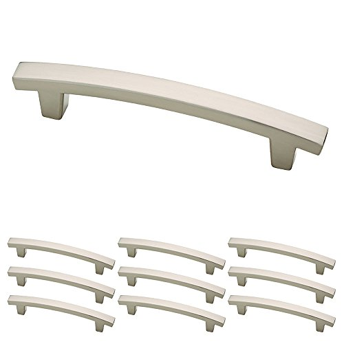 Franklin Brass Satin Nickel Pierce Handle Pull, Cabinet Handles and Drawer Pulls for Kitchen Cabinets and Dresser Drawers, 4 Inch, 10-Pack, P29615K-SN-B, Cabinet Hardware