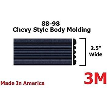 Amazon Com Automotive Authority Black Side Body Trim Molding For 1988 1998 Chevy Gmc Tahoe Suburban Silverado Pickup Truck 2 5 C1500 C2500 K1500 K2500 Blazer Half Roll 160 Automotive