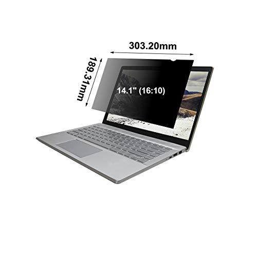 ARCANITE - Filtro de privacidad para ordenadores portátiles con pantalla de 14,1' (16 : 10), Antimicrobiano / Antireflectante / Anti luz azul / Anti UV