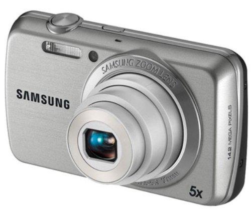 Samsung PL PL20 Kompaktkamera 14.2MP 1/2.3Zoll CCD 4320 x 3240Pixel Silber - Digitalkameras (14,2 MP, 4320 x 3240 Pixel, CCD, 5X, HD, Silber)