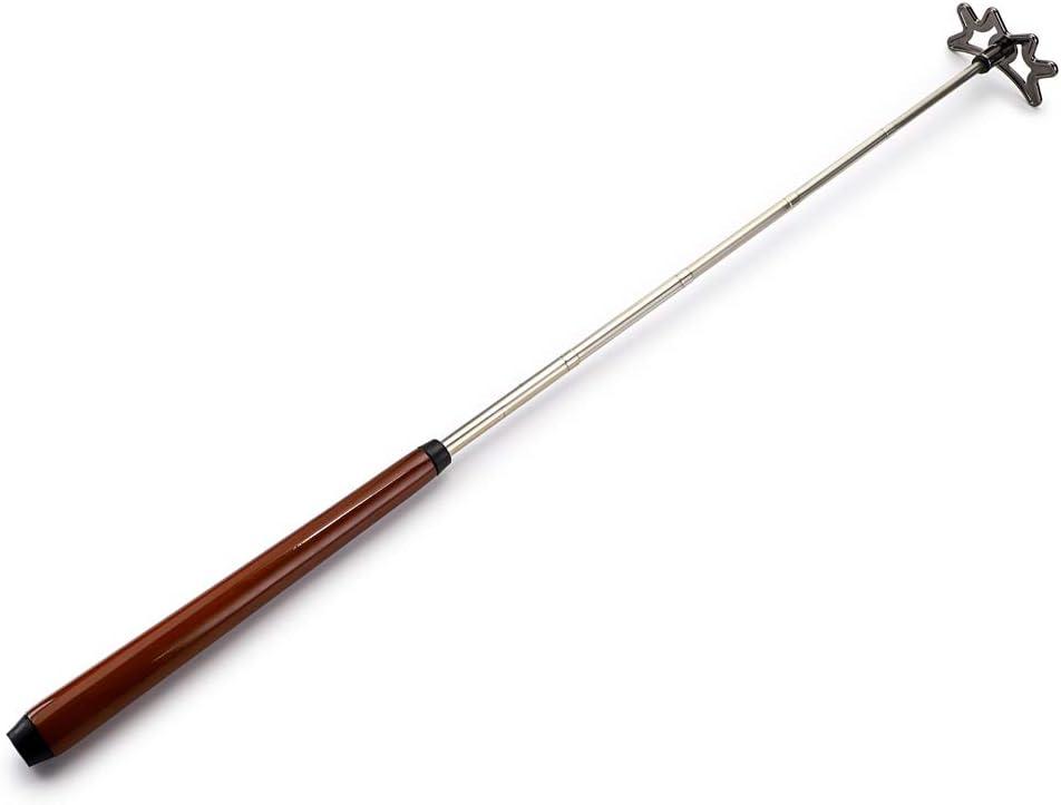 OwnMy Ausziehbarer Billard-Steg mit abnehmbarem Br/ückenkopf und Holzgriff Billard-Queue-Zubeh/ör 140 cm Pool-Stab L/änge ausziehbar bis zu 35 cm