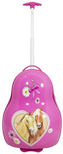 Reiskoffer trolley voor kinderen meisjes jongens met stevige harde schaal van polycarbonaat en leuk motief