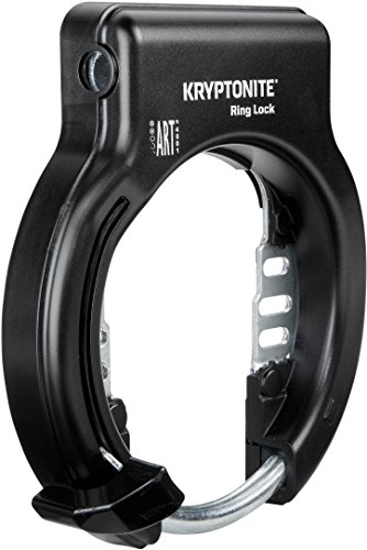 Kryptonite Ring Lock Non Retractable Antivol de Roue vélo Mixte Adulte, Noir