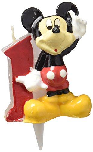 dekora - Vela de Cumpleaños Mickey Mouse Numero 1
