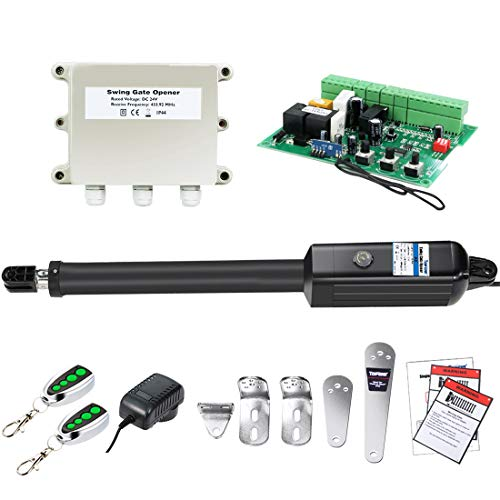 TOPENS A8 Automatic Gate Opener Kit Heavy Duty Single Gate Operator for Single Swing Gates Up to 880 Pounds Gate Motor