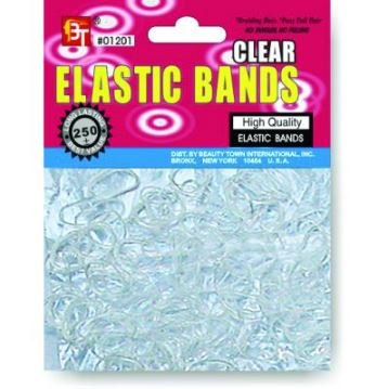 Great interest Beauty Town Clear Elastic Memphis Mall Bands 1pk