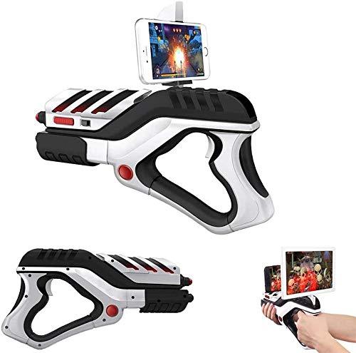 AR Game Gun Controller para iPhone o teléfonos Android Bluetooth 4.0 AR Pistola Gamepad para niños y niñas, niños adolescentes y adultos 360° realidad aumentada videojuego