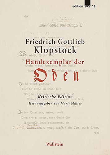 Handexemplar der »Oden«: Kritische Edition (edition Text)