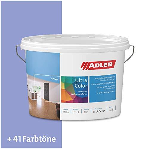ADLER Ultra-Color Wandfarbe - Volltonfarbe und Abtönfarbe in 100+ Farbtönen - Boy C12 012/7 Blau 1 l Atmungsaktiv, Hochdeckend, Lösungsmittelfrei