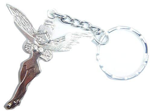 Llavero de plata envejecida con forma de Campanilla en una...