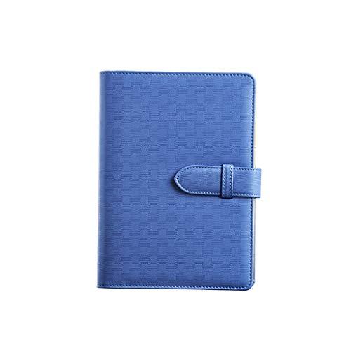 XIAOQIU Diario A5 Cuaderno de Cuero Llena Llena Leaf Leaf Bloc de Notas Llota de Notas Regla Arulada Forrada con Pocket & Pinthermder Bloc (Color : D)