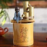 Decoración de paisaje, Funda de almohada Decoración de fuente de bambú Fuente de bambú Agua Característica de agua de bambú Fuente Ciclo de movimiento Esculturas Estatuas Decoración del hogar Artesan