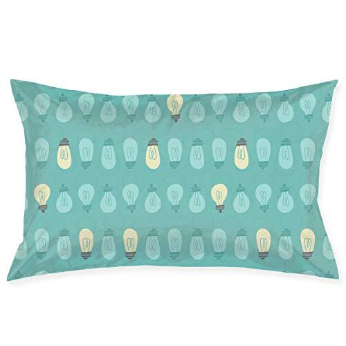 LightBulb - Funda de almohada de cama de 50,8 x 76,2 cm, tamaño Queen estándar