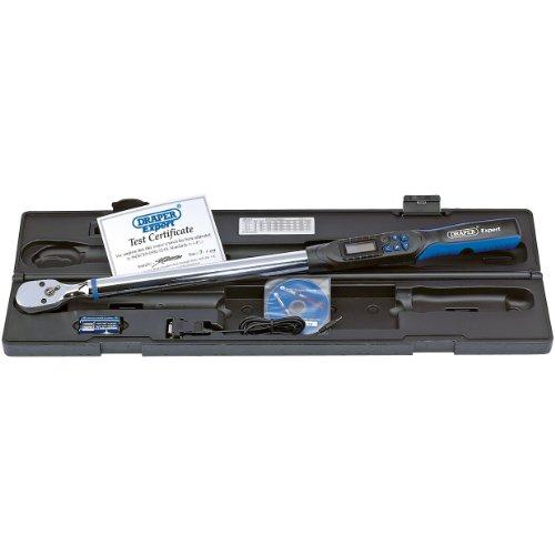 Draper Expert 77990 Elektronischer Präzisions-Drehmomentschlüssel mit 12,7mm Vierkantantrieb (1/2Zoll), 68 - 340Nm, mit RS232 und USB-Schnittstelle