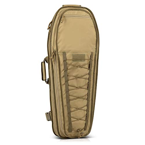 """Savior Equipment T.G.B 30"""" 34"""" Discreet Tactical Rifle Soft Case Multi-Firearm Carrier Shoulder Sling Pack Padded Bug-Out Bag For Concealed Carry - Low Profile, Hidden MOLLE Panel, Hook-N-Loop Webbing"""