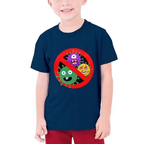 AWSERT Stop Coron-Avirus Teen T-Shirt Short Sleeve ComfortBlend T-Shirt Navy