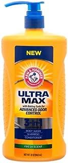 NEW Arm & Hammer ULTRA MAX Fresh Scent 3-in-1: Body Wash, Shampoo & Conditioner Net Wt 32 oz