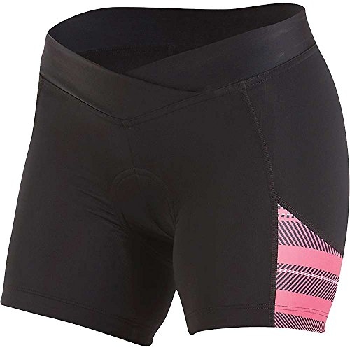 Pearl Izumi Damen Select Escape Printed Shorts Ride, Damen, Schwarz/Rouge Rot gestreift, Small
