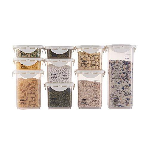 FINSHN □□ Kunststoff-Speichercontainer, Küchenversiegelte Dosen, Kunststoffkategorien, Körner, Trockenfrüchte, Tee-Aufbewahrungsboxen, Kühlschränke, Lebensmittelaufbewahrungsboxen