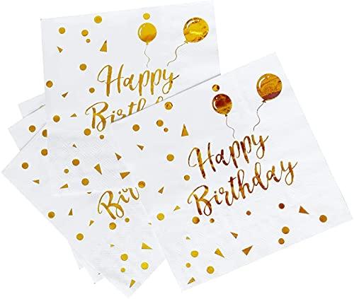 20 pièces serviettes en papier serviettes papier décorées Plis pour Fille Anniversaire Déco de Table Mariage Dîner Déjeuner Fête mariée Baby Shower