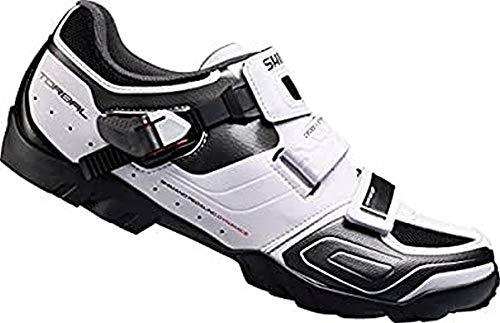 Shimano E-SHM089W - Zapatillas de ciclismo Unisex adulto, Blanco, 46 EU