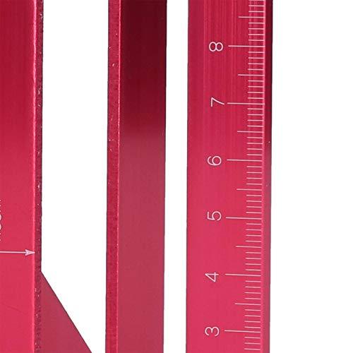 Soran Medidor de ángulo, Herramienta Multifuncional de medición de ángulo de ángulo en T de 45 ° / 90 ° 0-150 mm 3D para Ingenieros para carpintería para Manualidades(Red)
