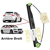 APDISTRIBUTION Mecanisme de Leve Vitre Electrique sans Moteur Arriere Droit Passager pour A3 Sportback 8PA 5 Portes 8P de 2003 à 2012 8P4839462A