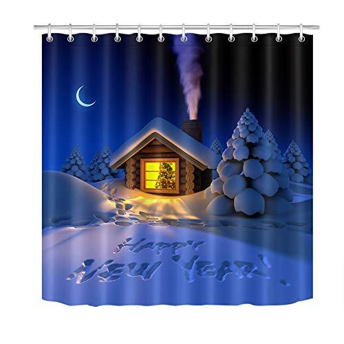 ZZZdz muts met sneeuwbescherming. Douchegordijn. 180 x 180 cm. 12 vrije haken. meubeldecoratie. 3D Hd-druk. Badkameraccessoires. Achtergrond.