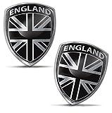 Biomar Labs® 2 x Aufkleber 3D Gel Silikon Abzeichen Stickers Auto Motorrad Fahrrad Fenster Tür PC Handy Tablet Laptop England UK GB Grossbritannien Union Jack Great Britain Flagge Fahne Flag F 151