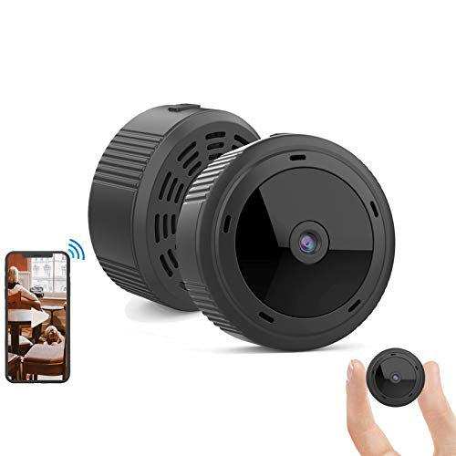 Gurmoir Mini Camera Hidden Cam.Wireless 1080P HD WiFi Camera with Night Vision/Motion Detection/Remote Viewing/Loop Recording,Security/Nanny Cam for Indoor/Home/Office(with iOS/Android APP) G10