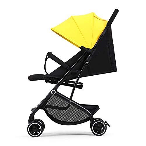 XHCP Kinderwagen Leichter Faltbarer Kinderwagen Reisesystem Lager 15 kg Mit Sitzen und Liegen Einhandklappbare Rückenlehne stufenlose Einstellung für Kinder von 0 bi