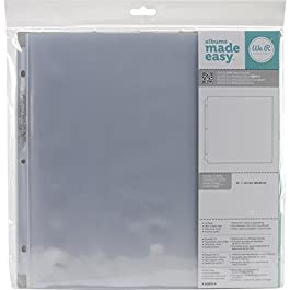 12 x 12-inch 3-Ring Album Page Protectors by We R Memory Keepers, 10 pack