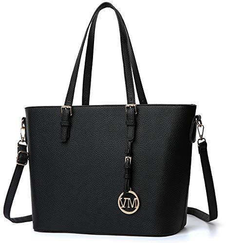 Vanessa & Melissa Damen Handtasche Kunstleder groß Damen Shopper Handtasche, praktische große Allrounder Tasche für Schule Alltag Einkaufen