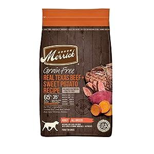 Merrick Grain Free Dry Dog Food Real Texas Beef & Sweet Potato Recipe – 22 lb. Bag