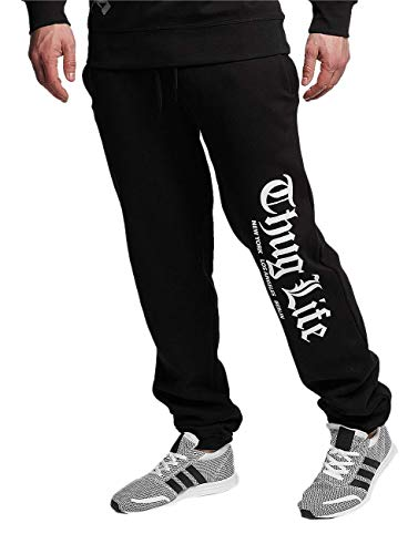 Thug Life Herren Cities Sweatpants Jogginghose, Black, S