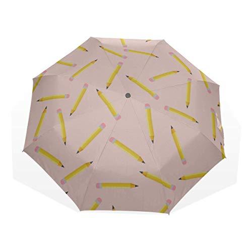 Reiseschirme Kunst Kreative Mode Kindlicher Wachsmalstift 3-Fach Kunstschirme (Großer Regenschirm Sun Women S Reiseschirm