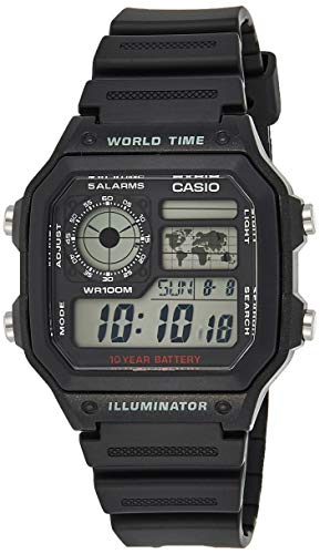 Casio AE1200WH-1A Men's World Time Digital Watch  $11 at Amazon