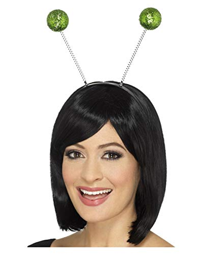 Grüner Glitzer Bommel Haarreif für St. Patricks Day & Alien Kostüme