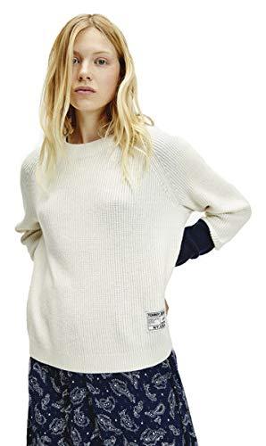 Tommy Jeans Dames Tjw Contrast Sleeve Sweater Sweatshirt