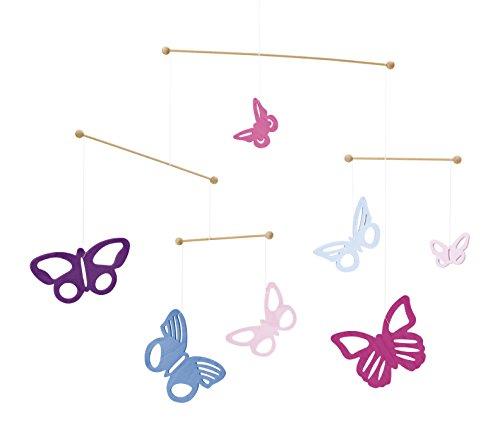 Selecta 60004 Bunte Schmetterlinge Mobile, Holzmobile, 48 cm, mehrfarbig