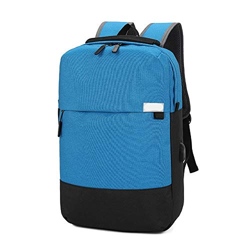 Professional Laptop Backpack with USB Charging Port,Business College School Travel Bag with USB Port,Fits to 15.6 Inch Laptops and Computer (Color : Light Blue)