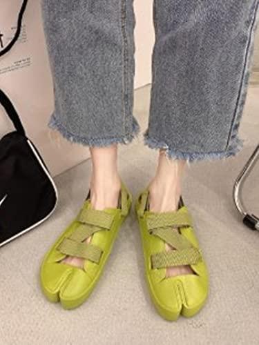 DZQQ Zapatillas de Lona para Mujer de Moda de Verano Zapatillas de Estilo para Mujer SandaliaAntideslizante conPersonalidad dePlaya2021