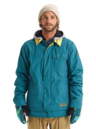 Burton Mens Dunmore Jacket, Deep Teal Acid Wash, X-Large