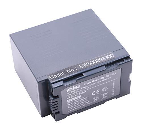 vhbw Li-Ion Akku 5400mAh für Camcorder Panasonic AG-HVX201AE, AG-HPX171, AG-HPX171E, AG-HPX250, AG-HPX250P, AG-HPX250EJ wie CGA-D54S CGA-D54SE.